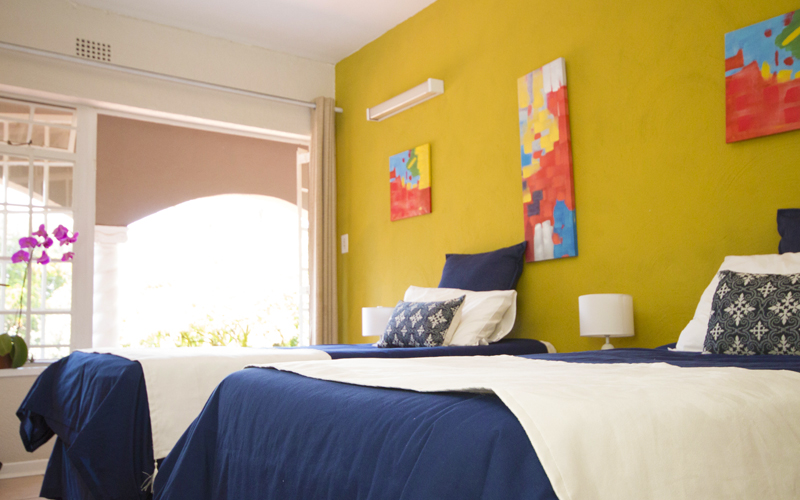 Bed and artwork JHB Centre